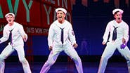 Jay Armstrong Johnson as Chip, Tony Yazbeck as Gabey and Clyde Alves as Ozzie in 'On the Town.'