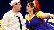 Jay Armstrong Johnson as Chip and Alysha Umphress as Hildy in 'On the Town.'