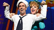 Clyde Alves as Ozzie and Elizabeth Stanley as Claire  in 'On the Town.'