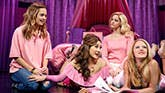 Erika Henningsen as Cady Heron, Ashley Park as Gretchen Wieners, Taylor Louderman as Regina George and Kate Rockwell as Karen Smith in Mean Girls on Broadway