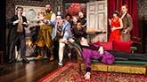 The cast of The Play That Goes Wrong Off Broadway