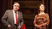 Richard McCabe as Harold Wilson & Helen Mirren as Elizabeth II in 'The Audience'
