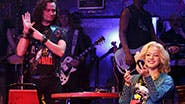 Constantine Maroulis as Drew and Lauren Zakrin as Sherrie in 'Rock of Ages'