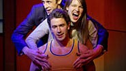 Jason Michael Snow, an audience member and Andrew Brewer  in a scene from 'Sex Tips for Straight Women from a Gay Man'