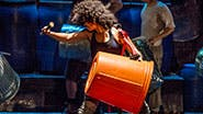 The cast of off-Broadway's Stomp.