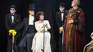 Chita Rivera as Claire Zachanassian and the cast of 'The Visit'