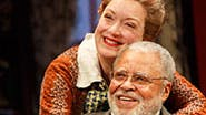Kristine Nielsen as Penny and James Earl Jones as Martin Vanderhof in ' You Can't Take It With You'